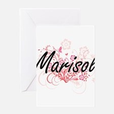 Marisol Artistic Name Design with F Greeting Cards