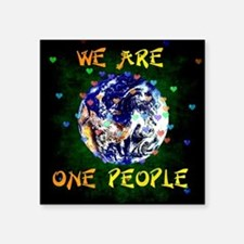 We Are One People Sticker