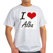 I Love Alba artistic design T-Shirt