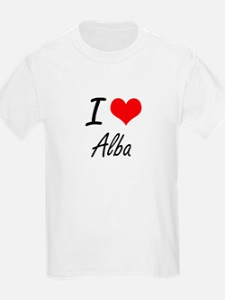 I Love Alba artistic design T-Shirt