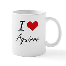 I Love Aguirre artistic design Mugs