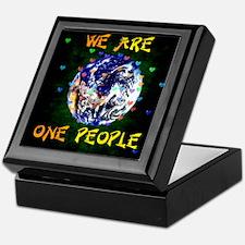 We Are One People Keepsake Box