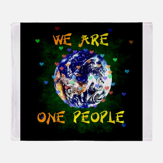 We Are One People Throw Blanket