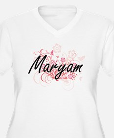 Maryam Artistic Name Design with Plus Size T-Shirt