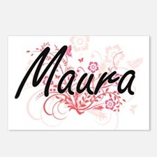 Maura Artistic Name Desig Postcards (Package of 8)