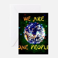 We Are One People Greeting Cards