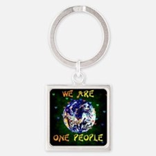 We Are One People Keychains