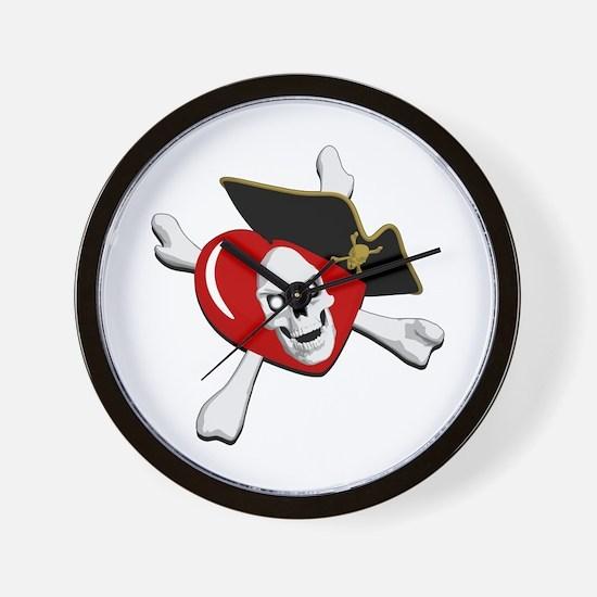 Pirate Heart Wall Clock