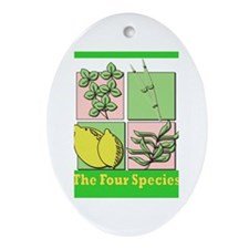 Succos The Four Species Oval Ornament