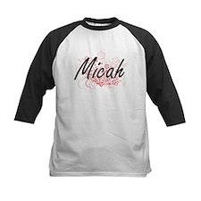 Micah Artistic Name Design with Fl Baseball Jersey