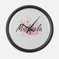 Michaela Artistic Name Design wit Large Wall Clock