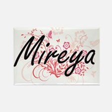 Mireya Artistic Name Design with Flowers Magnets
