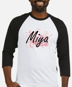 Miya Artistic Name Design with Flo Baseball Jersey