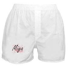 Miya Artistic Name Design with Flower Boxer Shorts