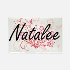 Natalee Artistic Name Design with Flowers Magnets