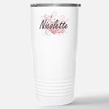 Nicolette Artistic Name Stainless Steel Travel Mug