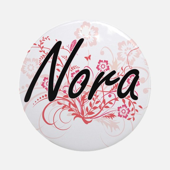Nora Artistic Name Design with Flow Round Ornament