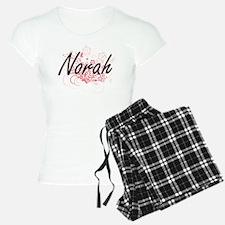 Norah Artistic Name Design Pajamas