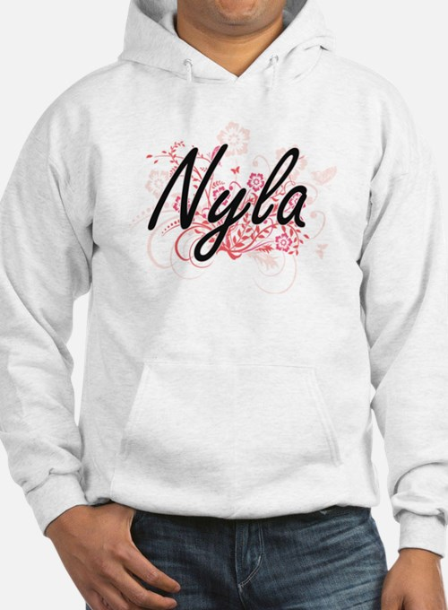 Nyla Artistic Name Design with F Hoodie