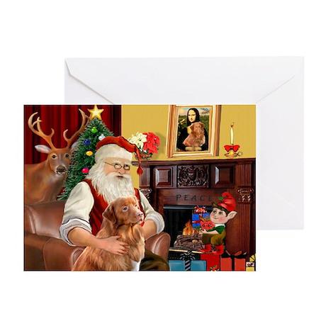 Santa/Nova Scotia Dog Greeting Cards (Pk of 20)