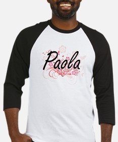 Paola Artistic Name Design with Fl Baseball Jersey