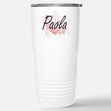 Paola Artistic Name Des Travel Mug