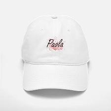 Paola Artistic Name Design with Flowers Baseball Baseball Cap