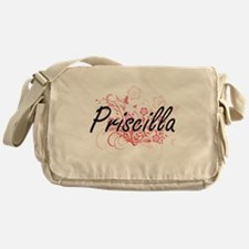 Priscilla Artistic Name Design with Messenger Bag