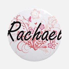 Rachael Artistic Name Design with F Round Ornament