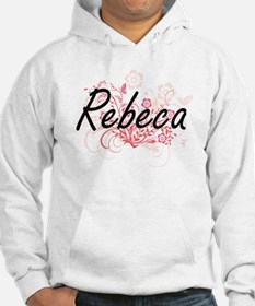 Rebeca Artistic Name Design with Hoodie Sweatshirt