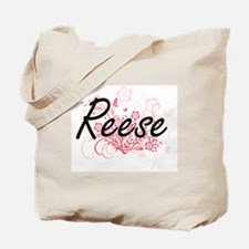Reese Artistic Name Design with Flowers Tote Bag