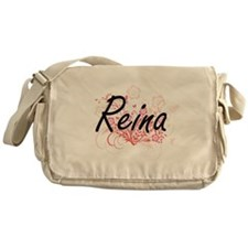Reina Artistic Name Design with Flow Messenger Bag