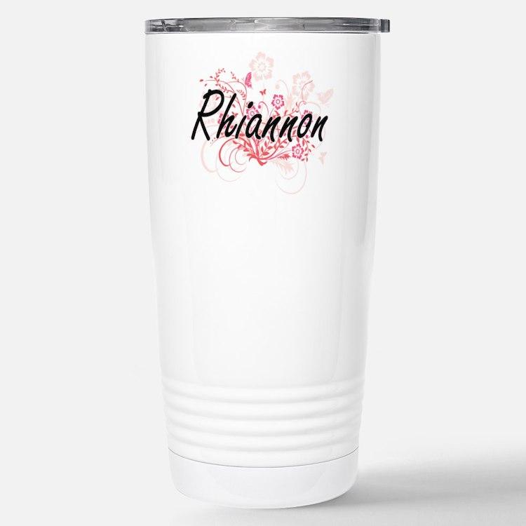 Rhiannon Artistic Name Stainless Steel Travel Mug