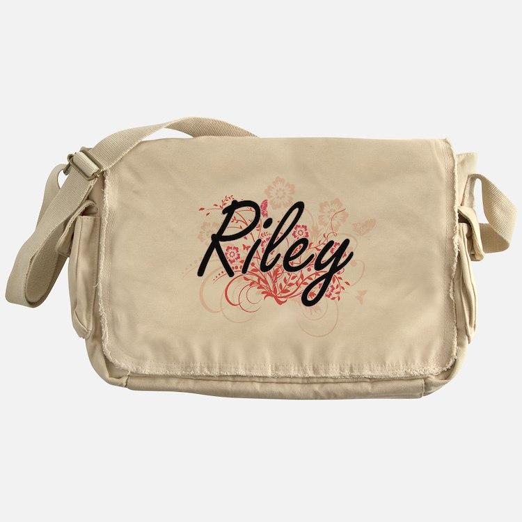 Riley Artistic Name Design with Flow Messenger Bag