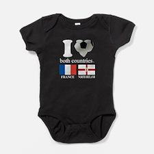 FRANCE-NORTH IRELAND Baby Bodysuit