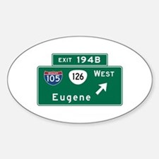Eugene, OR Road Sign, USA Decal