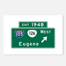 Eugene, OR Road Sign, USA Postcards (Package of 8)