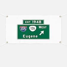 Eugene, OR Road Sign, USA Banner
