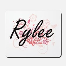 Rylee Artistic Name Design with Flowers Mousepad