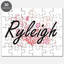 Ryleigh Artistic Name Design with Flowers Puzzle