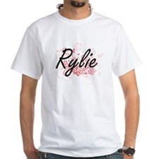 Rylie Artistic Name Design with Flowers T-Shirt