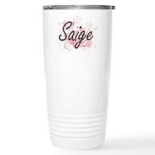 Saige Artistic Name Des Travel Mug