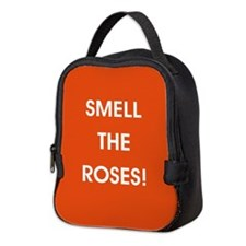 SMELL THE ROSES Neoprene Lunch Bag