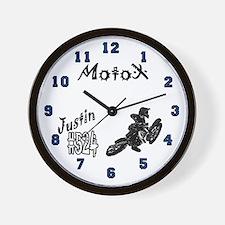 Justin's Yamaha motocross Wall Clock