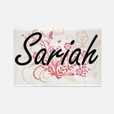Sariah Artistic Name Design with Flowers Magnets