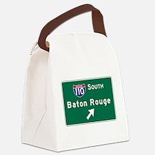 Baton Rouge, LA Road Sign, USA Canvas Lunch Bag