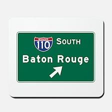 Baton Rouge, LA Road Sign, USA Mousepad