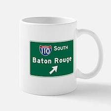 Baton Rouge, LA Road Sign, USA Mug