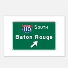 Baton Rouge, LA Road Sign Postcards (Package of 8)