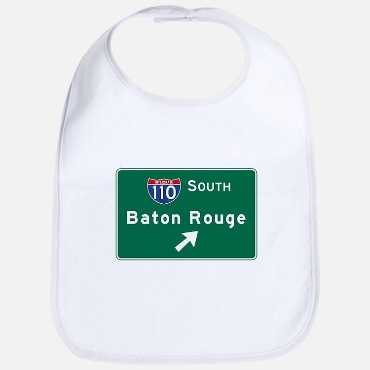 Baton Rouge, LA Road Sign, USA Bib